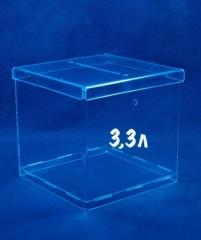 Ящик для пожертвований на 3,3 литра, акрил 1.8 мм,