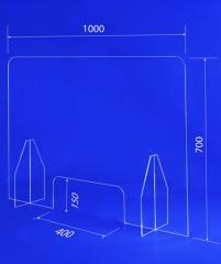 Настольный защитный экран 1000х700 мм, окно