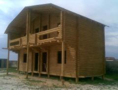 Construction of fellings of houses, baths, dachas,