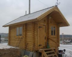 Lodges are garden. Dachas wooden. Houses from