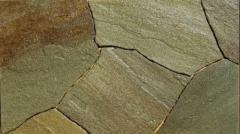 Камінь плитняк, сіро-зелено-коричневий