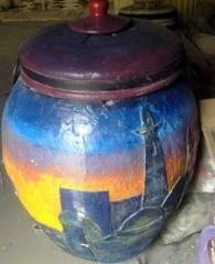 The tandoor ceramic for preparation of meat, bird,