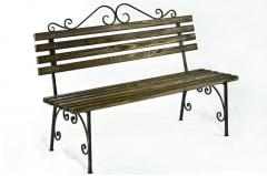 "Bench ""Venice"", garden with forging elements (L = 1500 mm)"