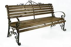 "Bench ""Lyudmila"", shod with armrests (L = 2000 mm)"