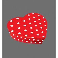 Коробка в форме Сердца красная с принтом, Размер