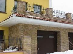 Facing tile for external works