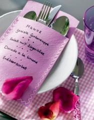 Envelopes for tableware