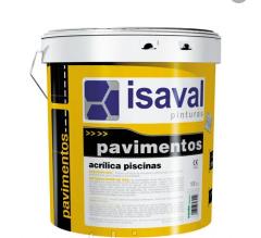 Краска ISAVAL Акриловая для бассейнов 4 л голубой - для бассейнов, прудов и резервуаров