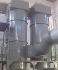 Scrubbers of gas purification of the cooling zone