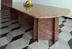 Furniture from a natural stone