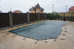 Shield covering for concrete pools