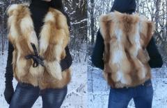 Меховой жилет(шуба) из меха финской лисы