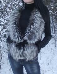 Fur coat, short fur coat. I will sell a mink vest