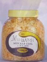 Соль морская ароматизированная для ванн МАНДАРИН.