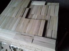 Ak lamel, preparation for a parquet board of size