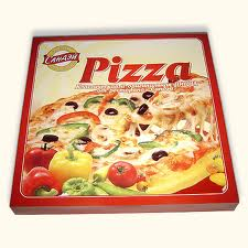 Packaging cardboard for pizza