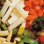 The vegetables frozen
