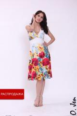 Летнее трикотажное платье модель № 01106/1