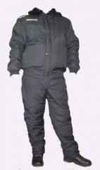 Униформа для охраны. Костюм охранника зимний.