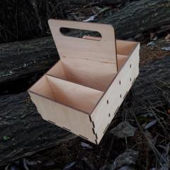 Деревянная коробка органайзер для приправ специй