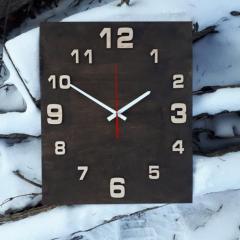 Настенные деревянные часы с бесшумным...