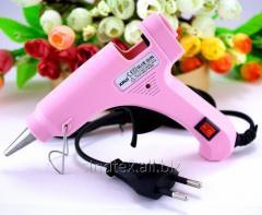 Клеевой пистолет под 7мм стержни, 20W c кнопкой XR-E20W Цвет - Розовый (сп7нг-4822)