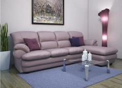 Upholstered furniture. A corner
