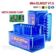 Автосканер диагностика ELM 327 V1.5 OBD2 mini