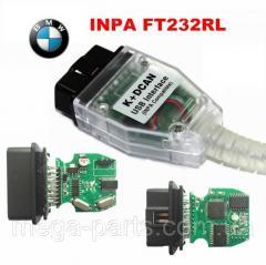 Автосканер для диагностики BMW INPA K+DCAN USB для