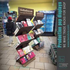 Verkooprek voor boekenplanken