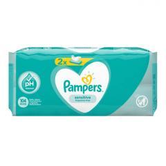 Салфетки Pampers детские влажные Sens 2 x 52