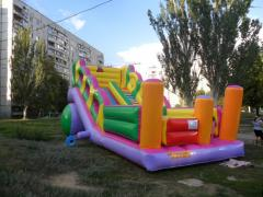 The inflatable hill height is 6 meters