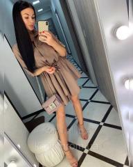 Короткое женское платье рубашка в 3 цветах 42-46