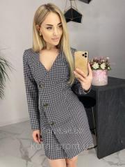 Короткое женское платье пиджак на запах 42-46