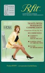 Panty hoses compression moderate compression of