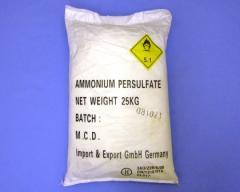 Persulfato de amonio, sulfato de amonio,