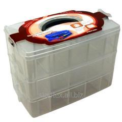 32x24x18,5см пластиковая тара (чемоданчик, контейнер, органайзер) для рукоделия и шитья (653-Т-0795)