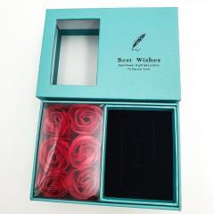 Подарочный набор шкатулка коробка с алыми розами