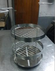 Сетка двухярусная с поддоном для тандыров и печей