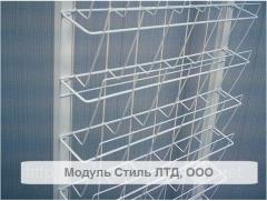 Rack racks for newspapers and magazines