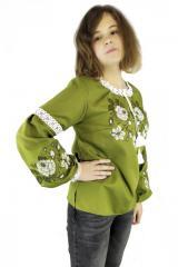 Подростковая стильная вышиванка для девушки цвета