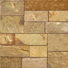 Tile of facing 2,0-2,5 cm, yellowy-brown 25x7