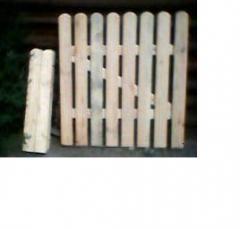 Деревянные забор садовый качественный. Одесса
