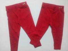 Штаны красные для девочки