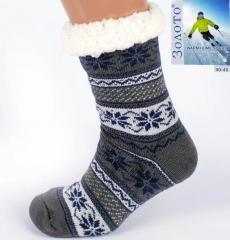 Теплые Тапочки-носки с антискользящей...