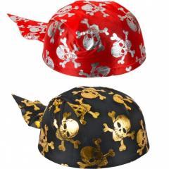 Бандана пиратская украшенная черепами