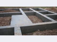 Фундаменты под быстромонтируемые здания.Устройство