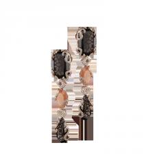 Gold earrings with diamonds - C 4001