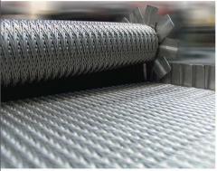 Grid conveyor heat resisting for roasting of