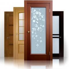 Doors from the massif of an oak, the Door wooden